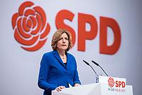 06 DEC 2019, BERLIN/GERMANY:<br /> Maliu Dreyer, SPD, Ministerpraesidentin Rheinland-Pfalz und komm. Parteivorsitzende, haelt eine Rede zur Eroeffnung, SPD Bundesprateitag, CityCube<br /> IMAGE: 20191206-01-002<br /> KEYYWORDS: Party Congress, Parteitag