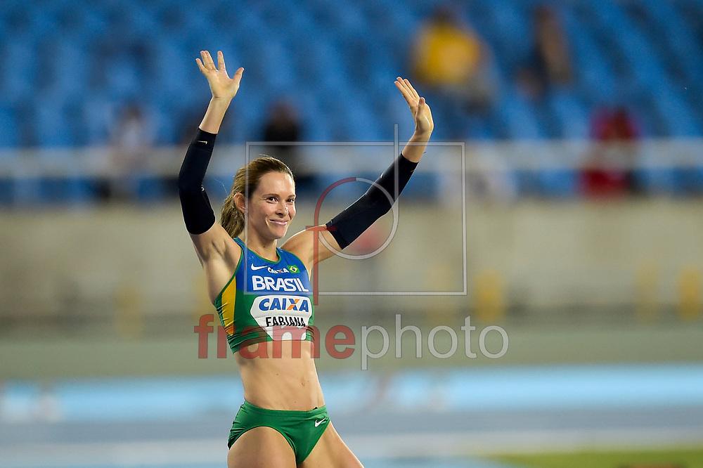 Fabiana Murer durante prova de salto com vara Feminina, Evento teste no Estádio Olímpico, Engenhão, Rio de Janeiro, RJ, neste sáabado (14). Foto: Luciano Belford/FramePhoto