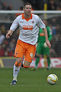 Picture by David Horn/Focus Images Ltd +44 7545 970036.09/03/2013.Kirk Broadfoot of Blackpool during the npower Championship match at Vicarage Road, Watford.