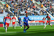 Wigan Jamal Lowe controls the ball in the Barnsley box during the EFL Sky Bet Championship match between Wigan Athletic and Barnsley at the DW Stadium, Wigan, England on 31 August 2019.