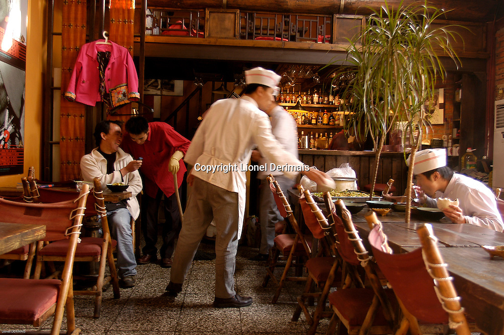 """The """"Pass-by"""" bar in Nan Luo Gu Xiang in Beijing. This bar was famous with expats living in Beijing. November 2005"""