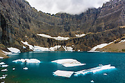 Icebergs on Iceberg Lake, Many Glacier, Glacier National Park, Montana