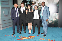 Charlie Hunnam; Robert Kazinsky; Rinko Kikuchi; Charlie Day; Idris Elba, Pacific Rim European Film Premiere, BFI IMAX Waterloo, London UK, 04 July 2013, (Photo by Richard Goldschmidt)