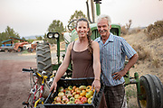 Sarahlee Lawrence and her dad, David, of Rainshadow Organics Farm