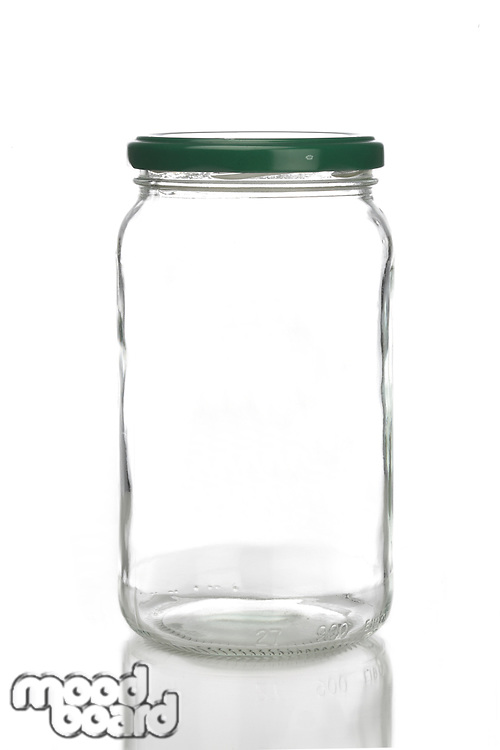 Studio shot of jar on white background