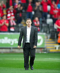 SWANSEA, WALES - Monday, May 15, 2011: Nottingham Forest's manager Billy Davies before the Football League Championship Play-Off Semi-Final 2nd Leg match against Swansea City at the Liberty Stadium. (Photo by David Rawcliffe/Propaganda)