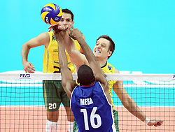 07.09.2014, Spodek, Katowice, POL, FIVB WM, Brasilien vs Kuba, Gruppe B, im Bild Murilo, // during the FIVB Volleyball Men's World Championships Pool B Match beween Brazil vs Cuba at the Spodek in Katowice, Poland on 2014/09/07. <br /> <br /> ***NETHERLANDS ONLY***