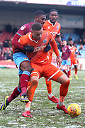 Shrewsbury Town defender Omar Beckles (6) during the EFL Sky Bet League 1 match between Scunthorpe United and Shrewsbury Town at Glanford Park, Scunthorpe, England on 17 March 2018. Picture by Mick Atkins.
