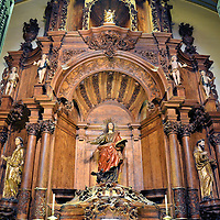 St. John the Evangelist Chapel in Lima Cathedral in Lima, Peru<br />