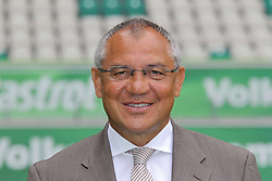12.07.2011, Volkswagen Arena, Wolfsburg, GER, 1.FBL,  VfL Wolfsburg, Spielervorstellung im Bild  Felix Magath Trainer vom VfL Wolfsburg Saison 2011/2012 // during the player praesentation in Wolfsburg 2011/07/12.     EXPA Pictures © 2011, PhotoCredit: EXPA/ nph/  Rust       ****** out of GER / CRO  / BEL ******