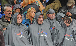 Elvery's ponchos were out in force atempting to keep fans dry during the All Ireland Semi Final against Kerry at Croke Park.<br /> Pic Conor McKeown