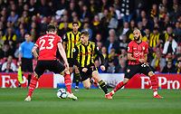 FOOTBALL - 2018 / 2019 Premier League - Watford vs Southampton<br /> <br /> Watford's Gerard Deulofeu holds off the challenge from Southampton's Pierre-Emile Hojbjerg, at Vicarage Road.<br /> <br /> COLORSPORT/ASHLEY WESTERN