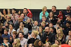 Bristol Flyers fans - Photo mandatory by-line: Dougie Allward/JMP - Mobile: 07966 386802 - 13/03/2015 - SPORT - Basketball - Bristol - SGS Wise Campus - Bristol Flyers v Leicester Riders - British Basketball League