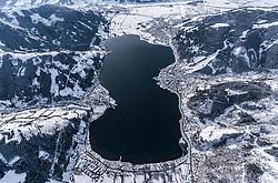 THEMENBILD - der Zeller See mit Zell am See, Thumersbach, Schuettdorf, aufgenommen am 5. Feber 2018 in Zell am See - Kaprun, Österreich // the Zeller See with Zell am See, Thumersbach, Schuettdorf, Zell am See Kaprun, Austria on 2018/02/05. EXPA Pictures © 2018, PhotoCredit: EXPA/ JFK