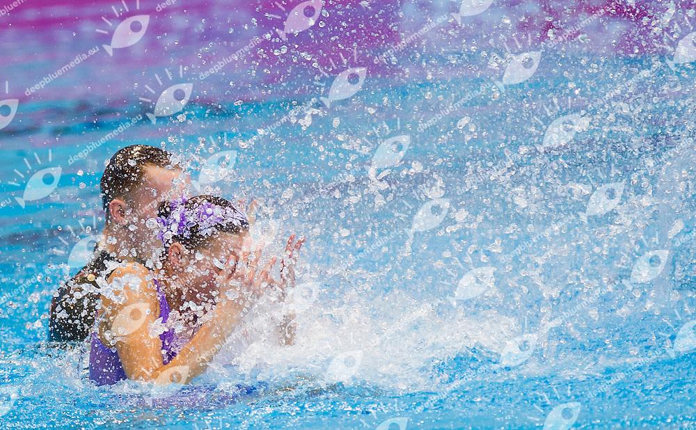 MALTSEV Aleksandr KALANCHA Mikhaela RUS gold medal<br /> London, Queen Elizabeth II Olympic Park Pool <br /> LEN 2016 European Aquatics Elite Championships <br /> Synchro<br /> Mixed duet technical final <br /> Day 05 13-05-2016<br /> Photo Giorgio Perottino/Deepbluemedia/Insidefoto