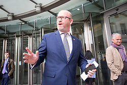 © Licensed to London News Pictures. 23/04/2017. London, UK. Leader of UKIP Paul Nuttall leaving BBC Broadcasting House after appearing on The Andrew Marr show this morning. Photo credit : Tom Nicholson/LNP