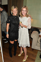 Left to right, OLIVIA PERRY and CAGGIE DUNLOP at a private view of the Beulah Winter Autumn Winter collection entitled 'Chrysalis' held at The South Kensington Club, London SW7 on 24th September 2015.