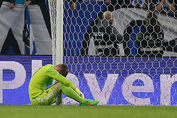 10.03.2015, Estadio do Dragao, Porto, POR, UEFA CL, FC Porto vs FC Basel, Achtelfinale, Rückspiel, im Bild Torhueter Tomas Vaclik (Basel) Enttaeuscht nach dem 3:0 // during the UEFA Champions League Round of 16, 2nd Leg match between FC Porto and FC Basel at the Estadio do Dragao in Porto, Portugal on 2015/03/10. EXPA Pictures © 2015, PhotoCredit: EXPA/ Freshfocus/ Christian Pfander<br /> <br /> *****ATTENTION - for AUT, SLO, CRO, SRB, BIH, MAZ only*****