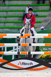 Natalia Simonia, (RUS), Confident Of Victory - Team & Individual Competition Jumping Speed - Alltech FEI World Equestrian Games™ 2014 - Normandy, France.<br /> © Hippo Foto Team - Leanjo De Koster<br /> 02-09-14