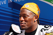 TAMPA, FL - JANUARY 27: Running back Willie Parker #39 of the AFC Pittsburgh Steelers speaks to the media during Super Bowl XLIII Media Day at Raymond James Stadium on January 27, 2009 in Tampa, Florida. ©Paul Anthony Spinelli *** Local Caption *** Willie Parker