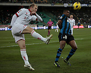 Bari (BA), 03-02-2011 ITALY - Italian Soccer Championship Day 23 - Bari VS Inter..Pictured: Masiello (B) Eto'o (I).Photo by Giovanni Marino/OTNPhotos . Obligatory Credit