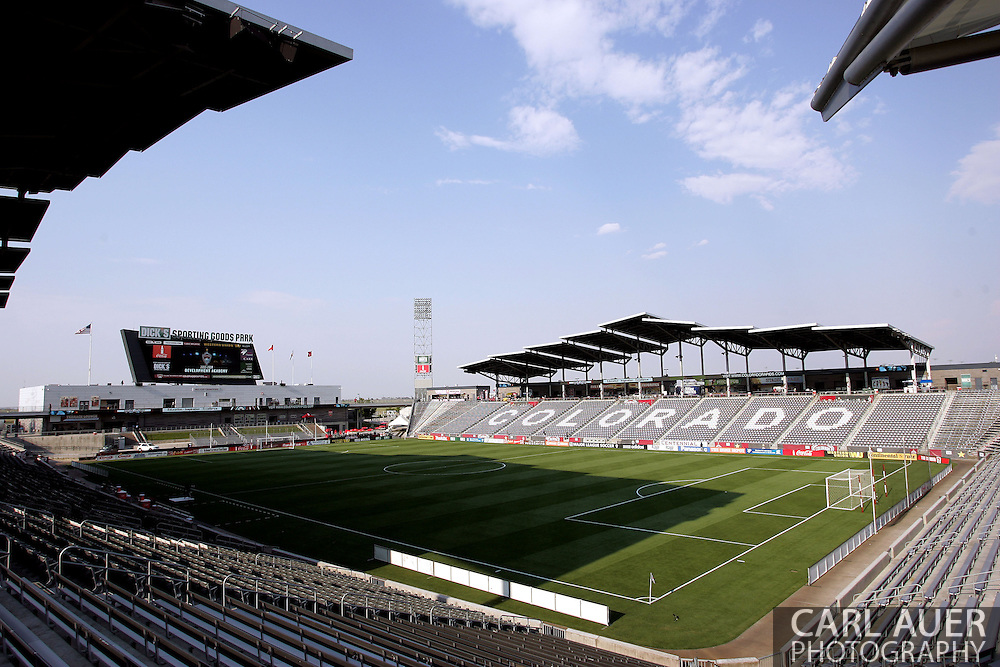 August 17th, 2013 - A wide angle overview of the pitch at Dick's Sporting Goods Park prior to the start of the Major League Soccer match between the Vancouver Whitecaps FC and the Colorado Rapids in Commerce City, CO