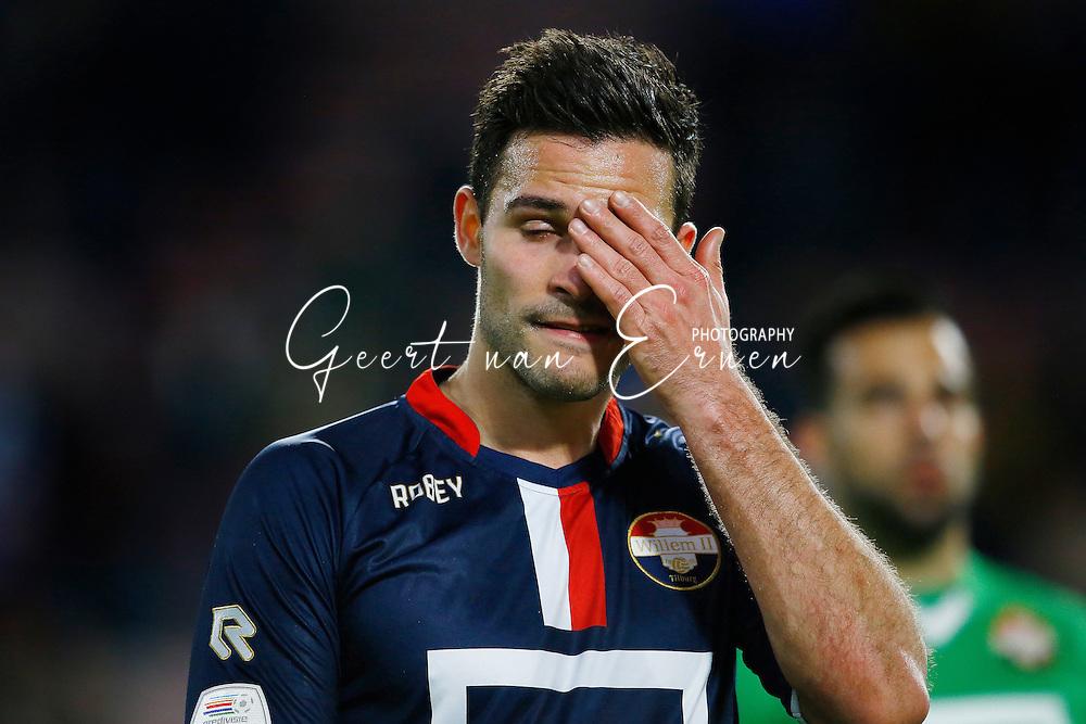 09-04-2016 VOETBAL:PSV:WILLEM II:EINDHOVEN<br /> Guus Joppen van Willem II teleurgesteld na afloop van de wedstrijd <br /> Foto: Geert van Erven