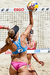 Tamara Borko of Slovenia at A1 Beach Volleyball Grand Slam presented by ERGO tournament of Swatch FIVB World Tour 2012, on July 17, 2012 in Klagenfurt, Austria. (Photo by Matic Klansek Velej / Sportida)