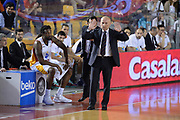 DESCRIZIONE : Roma  Lega A 2014-15 Acea Roma Enel Brindisi <br /> GIOCATORE : Dalmonte Luca<br /> CATEGORIA : Allenatore Coach Mani <br /> SQUADRA : Acea Roma<br /> EVENTO : Campionato Lega A 2014-2015<br /> GARA :Acea Roma Enel Brindisi <br /> DATA : 19/04/2015<br /> SPORT : Pallacanestro<br /> AUTORE : Agenzia Ciamillo-Castoria/M.Longo<br /> Galleria : Lega Basket A 2014-2015<br /> Fotonotizia : Roma  Lega A 2014-15 Acea Roma Enel Brindisi <br /> Predefinita :