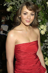 Actress MARTINE McCUTCHEON at a ball in London on 30th October 2000.<br /> OIL 48