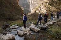 A hiking club goes in Beijing.
