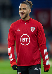CARDIFF, WALES - Tuesday, November 19, 2019: Wales' Tyler Roberts warms up ahead of the final UEFA Euro 2020 Qualifying Group E match between Wales and Hungary at the Cardiff City Stadium. (Pic by Laura Malkin/Propaganda)