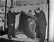 Natural History Museum, Merrion St. Record Irish Skate (205lb) handed over to Mr Lucas, Director of Museum by representatives from Bord Failte and Inland Fisheries Trust. <br /> 28/08/57
