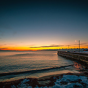 Today's artic cold Winter Sunrise  at Narragansett Town Beach, Narragansett, RI,  January  23, 2013. Photo: Tripp Burman
