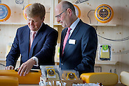 King Willem-Alexander opens cheese factory Royal A Ware, Heerenveen 08-07-2015