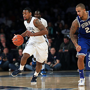 James Bell, Villanova, in action during the Villanova Wildcats Vs Seton Hall Pirates basketball game during the Big East Conference Tournament at Madison Square Garden, New York, USA. 12th March 2014. Photo Tim Clayton