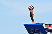 Alessandro De Rose of Italy during the Red Bull Cliff Diving World Series 2018 on September 23, 2018 in Polignano a Mare, Italy - Photo Marco Verri / ProSportsImages / DPPI