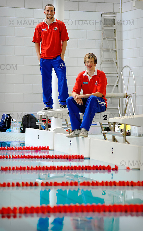EDINBURGH, UK - 19th September 2010: Swimmers Craig McNally (Blonde) and Lewis Smith from Warrender Swimming Club will be travelling with the British Team to compete in the Commonwealth Games in Delhi, India.  (Photograph: Callum Bennetts/MAVERICK)