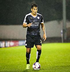 Leonardo Ulloa of Leicester City - Mandatory byline: Matt McNulty/JMP - 07966386802 - 25/08/2015 - FOOTBALL - Gigg Lane -Bury,England - Bury v Leicester City - Capital One Cup - Second Round