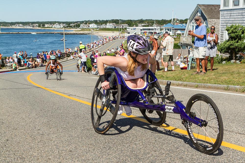 41st Falmouth Road Race: Chelsea Crytzer, Christina Kouros
