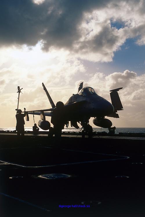 F/A-18 Hornet on carrier catapult