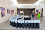BENTONVILLE, AR - FEBRUARY 15:  Photographs of 21c Hotel with exteriors and interiors showing the front desk and the art work that is displayed around the hotel along with the green Penguins watching over the hotel in Bentonville, Arkansas.<br /> CREDIT Wesley Hitt for The Wall Street Journal<br /> WALMART-Bentonville Scene-setters