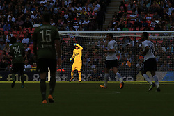 5 August 2017 -  Pre-Season Friendly - Tottenham Hotspur v Juventus - Tottenham Hotspur goalkeeper Hugo Lloris shields hie eyes against the sunlight - Photo: Marc Atkins / Offside.