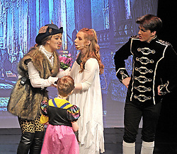Character&rsquo;s Indigo (JAshling Sammon)), Princess Mia  (Caoimhe McNally) and Prince Handsome (Conor Clarke ) from the production of Prince Handsome Pantomime that ran successfully at Westport Town Hall theatre&rsquo;s last week.<br /> Pic Conor McKeown