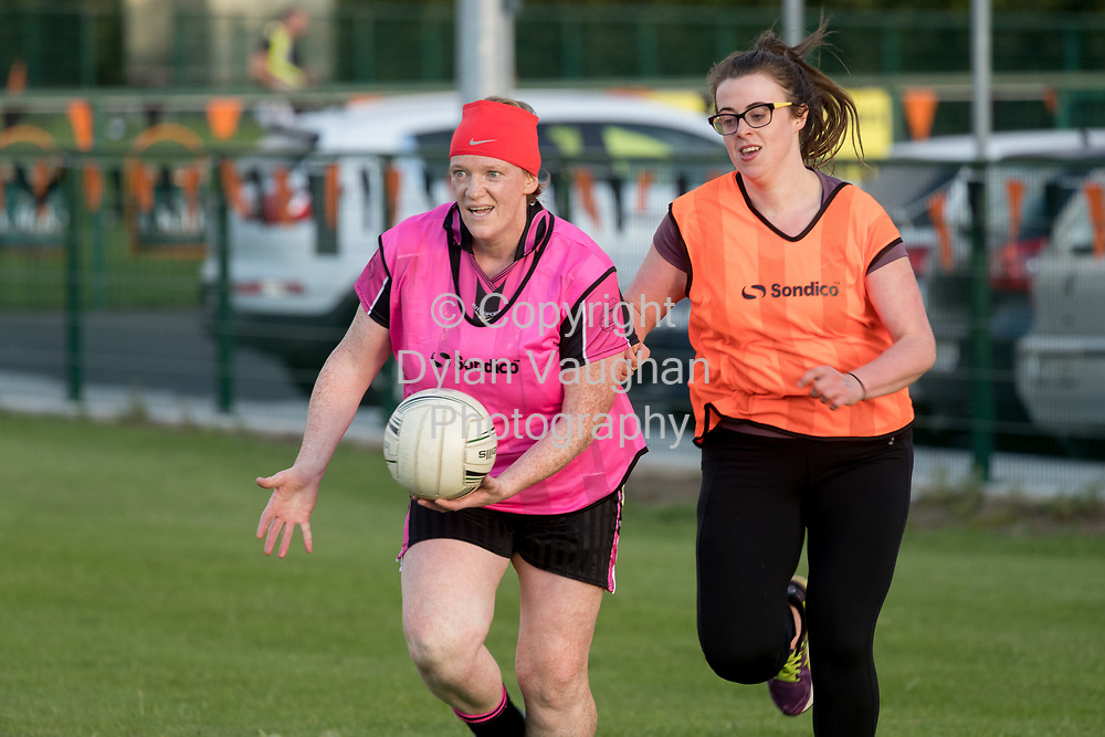 13-7-17<br /> The Ladies football team pictured at Conahy Shamrocks.<br /> <br /> Pictured is from left Hilda Butler and Anne (Journal Reporter)<br /> <br /> Picture Dylan Vaughan.
