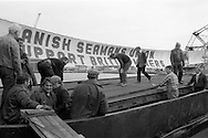 Hull dockers unloading food &amp; clothing from<br />