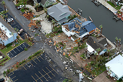 August 27, 2017 - Rockport, Texas, U.S. - Storm-damaged Rockport, Texas homes are seen in this Sunday, aerial photo. Hurricane Harvey made landfall late Friday night in Rockport as a Category 4 storm. (Credit Image: © William Luther/San Antonio Express-News via ZUMA Wire)