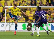 FODBOLD: Josip Radosevic (Brøndby IF) under kampen i Superligaen mellem Brøndby IF og FC Midtjylland den 20. maj 2019 på Brøndby Stadion. Foto: Claus Birch.