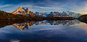 Lac de Chésery at Sunset overlooking the Mont Blanc Massif