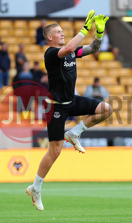Jordan Pickford of Everton warms up- Mandatory by-line: Nizaam Jones/JMP - 11/08/2018/ - FOOTBALL -Molineux  - Wolverhampton, England - Wolverhampton Wanderers v Everton - Premier League